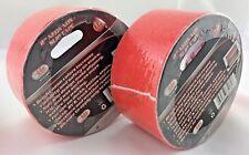 "2 rolls tape Neon Orange Non-Slip bright for floor or stair marking 2""x 12'"