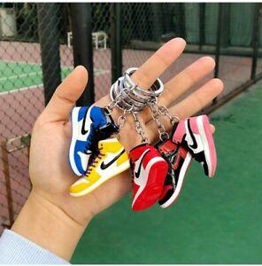 New Mini 3D Sneaker Keychain Handpainted Shoe Decoration Aj1 Air Jordan 52styles