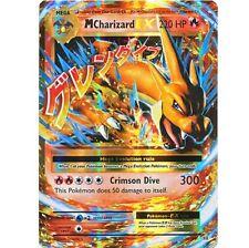 MEGA M CHARIZARD EX 13/108 Ultra Rare Pokemon Holo Foil Star Card! XY Evolutions