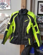 a great Richa textile hi-vis motorcycle biker jacket. size M