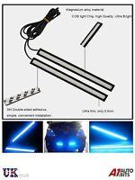 2 17CM Impermeable Cob Tira LED de Día Diurna Niebla Conducción Azul Luces N2