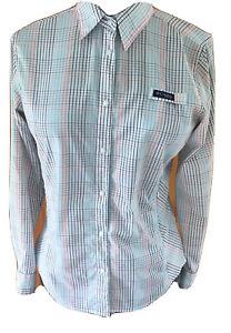 Columbia Womans PFG Tamiami Size Medium Striped Omni Shade Long Sleeved Shirt