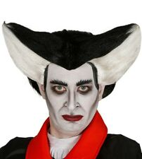 Adult Black and White Vampire Wig Fancy Dress Halloween Accessory