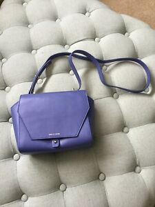 PIED A TERRE Purple Leather Shoulder Bag With Dust Cover
