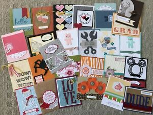 25 past Demonstrator card fronts swaps made w/ Stampin' Up!
