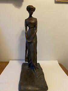 1910 Paul Troubetzkoy Plaster Woman Large 23 in Tall AMR Alva Museum Replica