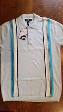 Ben Sherman Knit Polo Shirt M BNWT Mod Perry Retro 60s