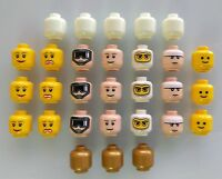LEGO Heads. Lot of 29. Brand New! Lego minifigure heads. Glow In The Dark.