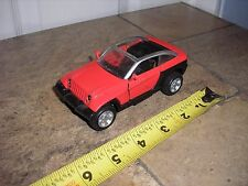 """RARE Nice Vintage 1/32 ? 5"""" New Ray Jeep 4x4 Jeepster Red"""