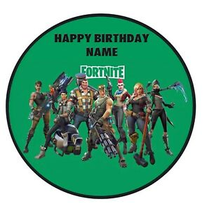 Fortnite Edible Image personalised icing cake topper decoration video game