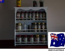 Spice Rack will hold 18 to 36 jars( SPICE DRESSER) in White Made in Australia