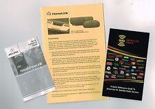 XM Satellite Radio Glove Box Brochure/Pamphlet w/ HandsFreeLink, HomeLink, Acura