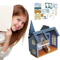 DIY Puppenhaus Mini Montiert Modell Haus Holzhaus Kinder Spielzeug Puppe Accs