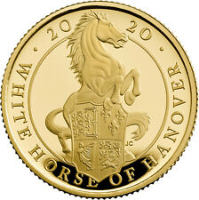 1/4 Ounce Gold Proof Queens Beasts White Horse of Hanover 25 £ UK 2020 Royal Min
