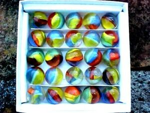 BOX SET OF 1999 MARBLE KING 4 COLOR (ST MARYS MIMIC) CATS EYE , CAT EYE MARBLES