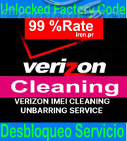 Verizon IMEI FIX ESN Unbarring Service iPhone xs max, x, 7 8 Samsung CLEAN