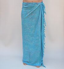 NEW EXTRA LARGE LONG PLUS SIZE PREMIUM QUALITY SWIMWEAR SARONG WRAP / saL509P