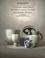 SOTHEBYS Ceramics Glass Picasso Cocteau Lurcat Coper Leach Odundo Rie Catalog 89