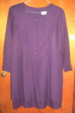 ALIX TAYLOR PURPLE LONG SLEEVED DRESS-SIZE 18W-MADE IN THE USA