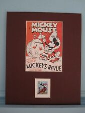Walt Disney's Mickey Mouse & his own Stamp