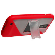 For T-Mobile Samsung Galaxy S II T989 TPU S-Line Skin Case Cover Kickstand Red