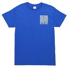 NEW The Office Michael Scotts Fun Run Race Blue T Shirt Tee Large FREE SHIPPING