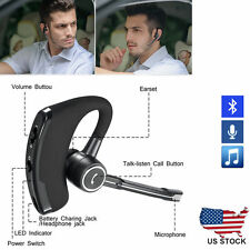 Wireless Bluetooth V4.1 HandsFree Car Kit Headset Music Headphone Voice Earpiece