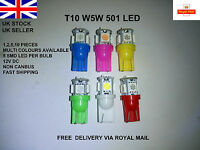 T10 501 W5W CAR 5 LED RED BLUE GREEN WHITE PINK LIGHT BULBS LAMP INTERIOR 12V