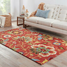 Jaipur Rugs Hand Tufted Red 3'6X5'6 Feet Wool  Transitional Floral Area Rug