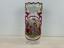Antique Royal Austria Porcelain Large Handled Vase with Victorian Painted Scene