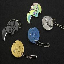 1Pc Mini Random Coin Folding Knife Keychain Hook EDC Outdoor Survival Tools