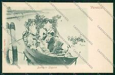 Venezia città Costumi Matrimonio Ebraico cartolina QK2663