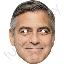 George Clooney Looking Smug Celebrity Card Mask - All Our Masks Are Pre-Cut!