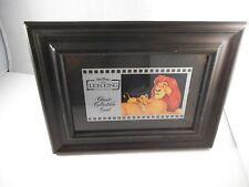 Walt Disney Lion King Classic Collectible Cel Card 134 Simba Mufasa Framed