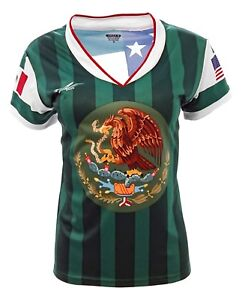 Mexico and USA Jersey Arza Design For Women_V Neck 100% Polyester Made in Mexico