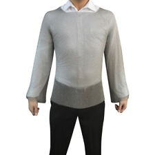 RingMesh Welded Stainless Steel Long Sleeve Chainmail Shirt Larp, Sca, CosPlay