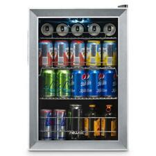 NewAir Beverage Cooler Fridge Freestanding 90 Can Adjustable Shelves Stainless