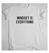 Motivational t shirt inspirational training running tee MINDSET IS EVERYTHING