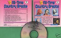 Various Artists - CD - 16 All-Time Country Greats - CD 7 von 1989 - Neuwertig !