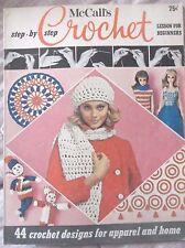 Vtg 1969  McCalls CROCHET Magazine BARBIE Fashions TOYS Dresses MOD Afghans MISC