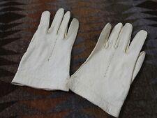 Vintage Pigskin Ladies Gloves 6 1/2 Alexette small genuine pig skin offwhite