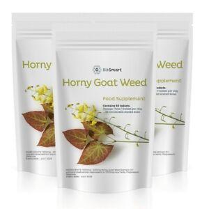 Horny Goat Weed Tablets - Epimedium Grandiflorum HIGH Strength Sex Libido Pills