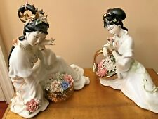 New Listing(2) Large Vintage Female Chinese Figurines