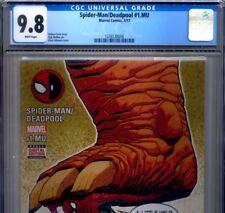 PRIMO:  Spider-Man / DEADPOOL #1.MU CGC 9.8 NM/MT HIGHEST Marvel comics lot