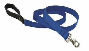 "Lupine Dog Leash Lead 1/2"" BLUE 4 Ft New Solid Blue Softer Nylon Made in USA"