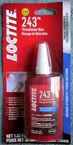 LOCTITE 243 Medium Strength Threadlocker Blue Thread Treatment - 1.22 fl. oz.
