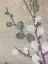 LAURA ASHLEY PUSSY WILLOW NATURAL  CURTAIN fabric 1metre/100cm x 137cm NEW