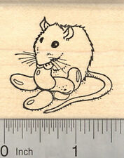 Easter Rat Eating Jelly Beans Rubber Stamp, Candy E27110 WM