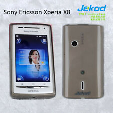 Jekod black TPU gel s. case cover+screen protector for Sony Ericsson Xperia X8