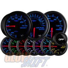 GlowShift 52mm Tinted 7 Color Boost/Vac, Oil Pressure, Air/Fuel Ratio Gauge Set